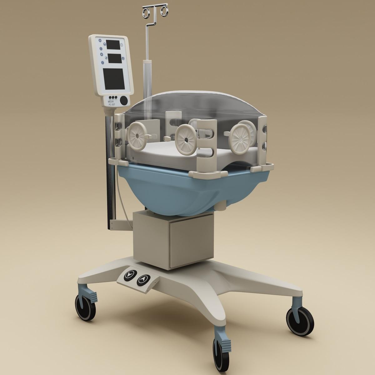 3d model of infant incubator pc 307