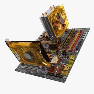motherboard ga-ep45-dq6 gv-n220oc multi-format 3d c4d
