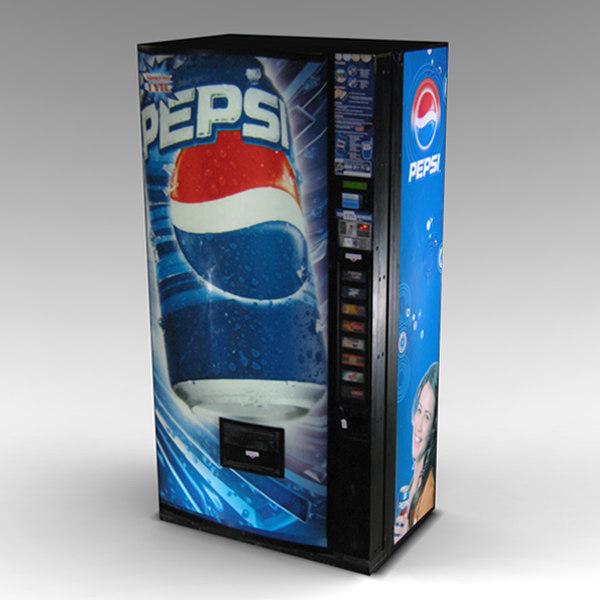 pepsi vending machine 3d max