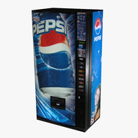 pepsi vending machine 3d max