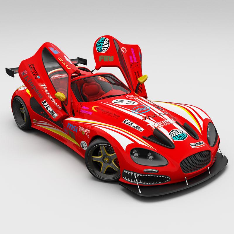 3d race car gillet vertigo model