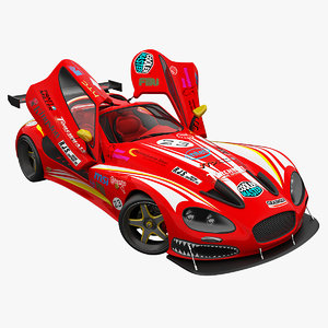 3d race car gillet vertigo model