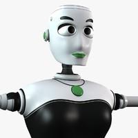 Stella Female Robot (Non Rig)