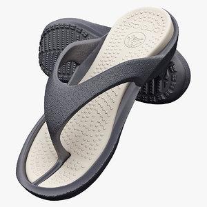 sandals crocs 3d model