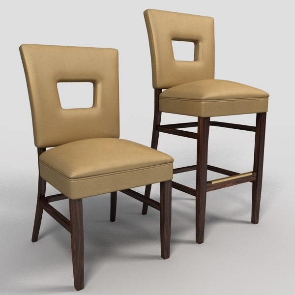 dining chair bar stool 3d model