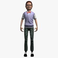 man human guy 3d model