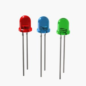 3d model electronic diode led