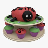 max ladybug cake
