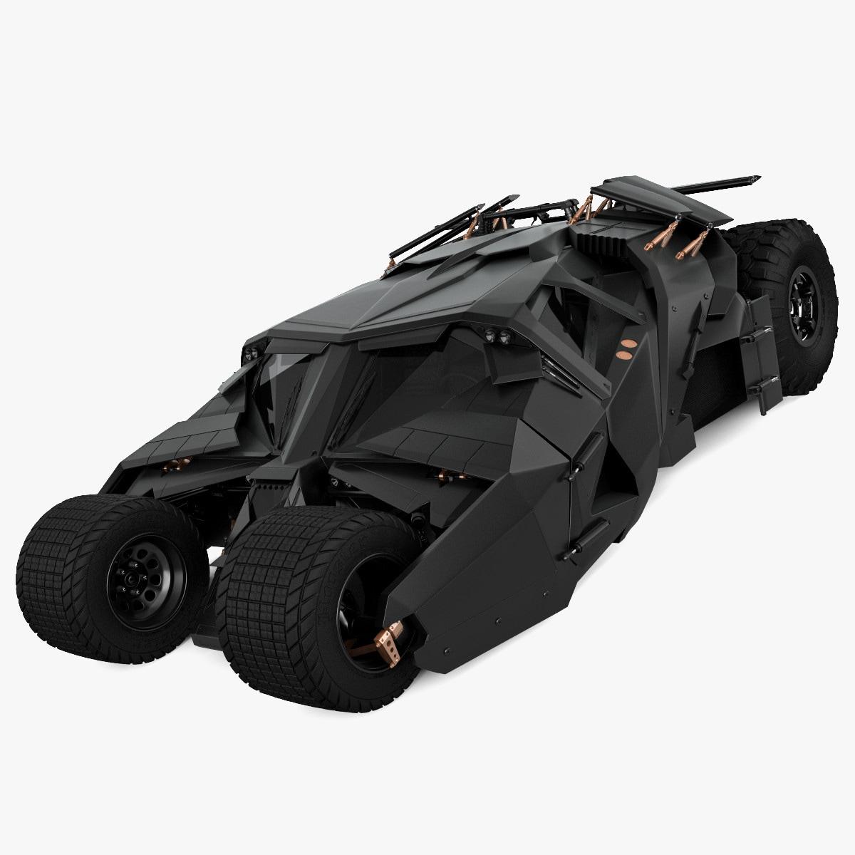 realistic batmobile tumbler 3d model