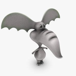 3d model cartoon elephant