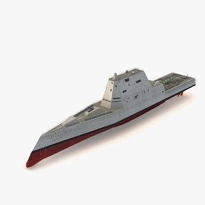 3ds max uss zumwalt ddg-1000 destroyers