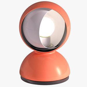 eclisse vico magistretti table lamp 3d model