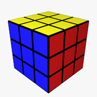 rubik s cube 3d obj