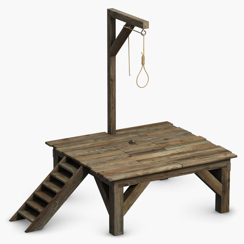 gallows scaffold noose 3d model