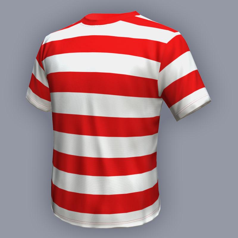 ready t-shirt 3d model