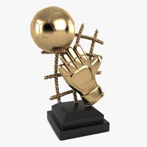 3d trophy football foot model