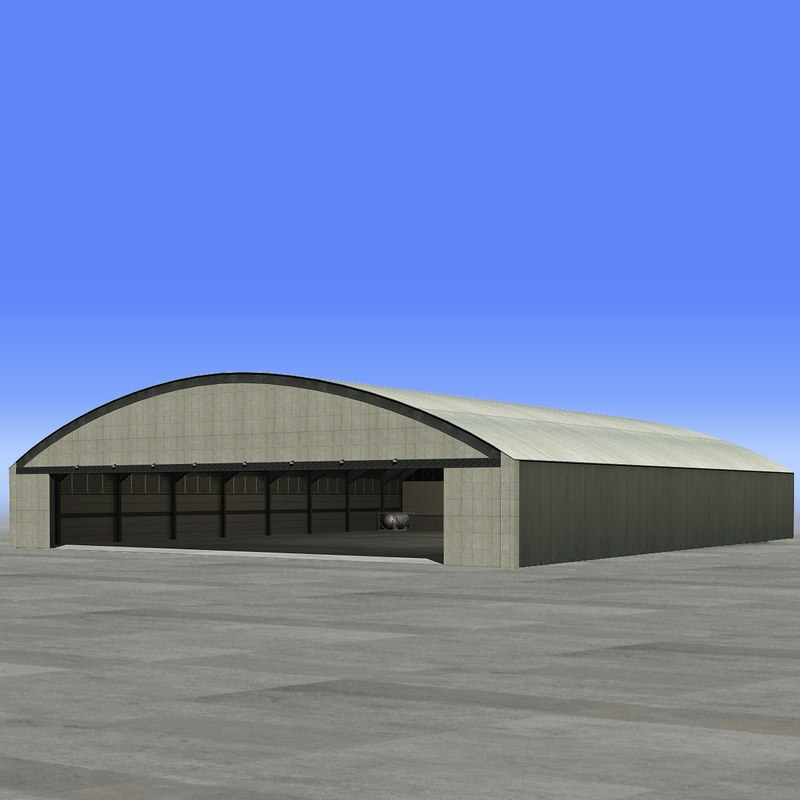 3d large hangar model