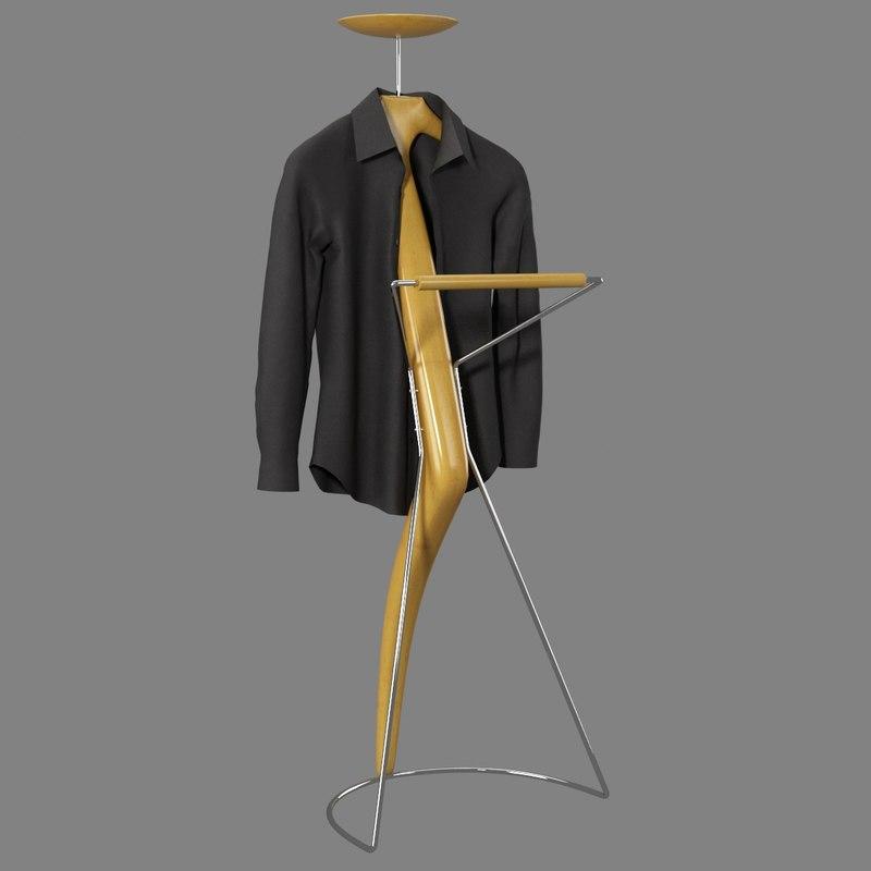 realistic hanger cloth 3d max