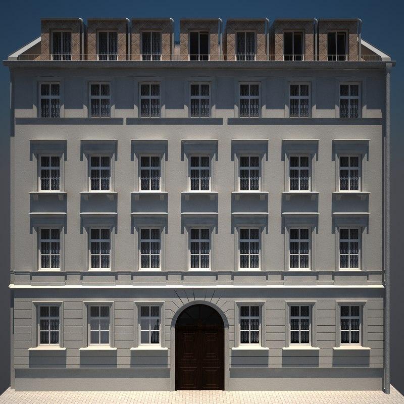 old building hd 03 3d model