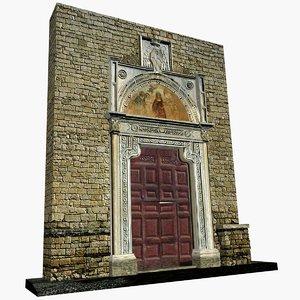 3d portal benedectine abbey farfa model