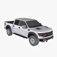 3d raptor crew cab model