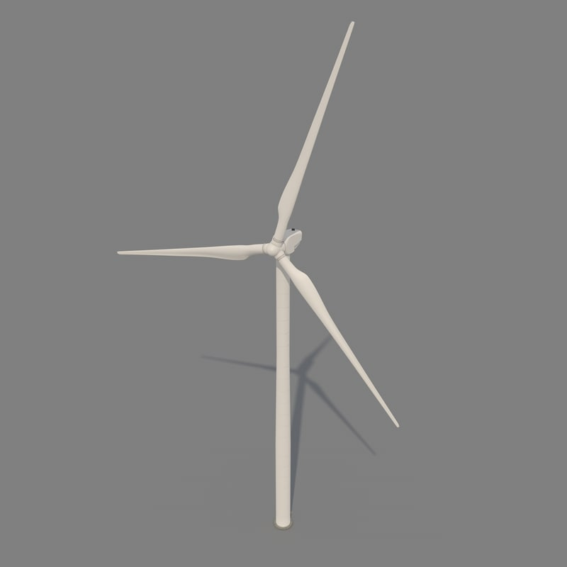 3ds max general electric wind turbine