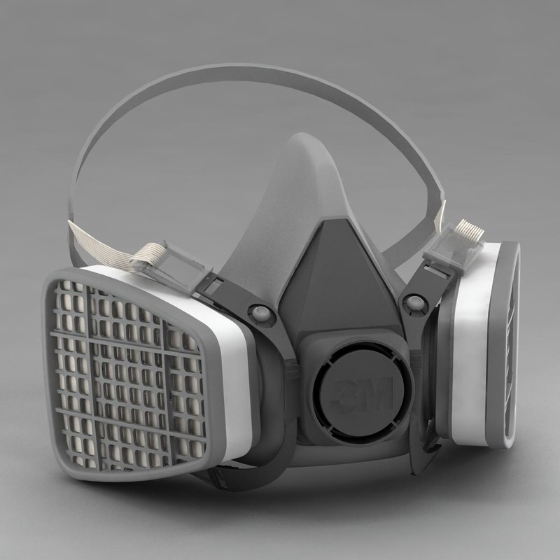 half gas mask 3d model