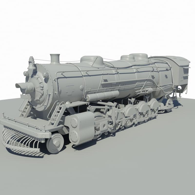 train locomotive 3d dxf