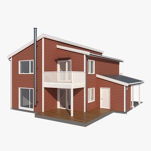 3d model realistic house splitt nb