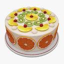 fruit cake 3D models