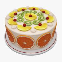3d fruit cake model