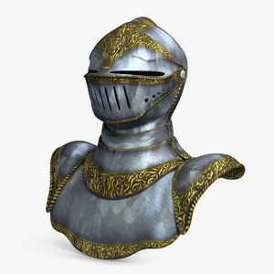 3d model helmet armour 2