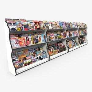 3dsmax magazine rack retail