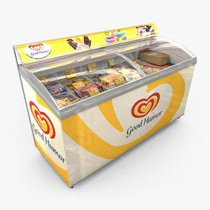 obj ice cream freezer
