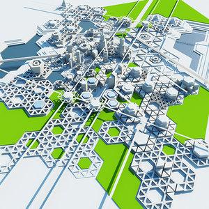 obj city geometric