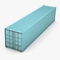 3d model iso container 12m 40ft