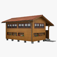 3d model house apiary