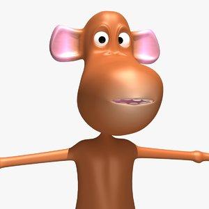 3dsmax cartoon monkey rigged
