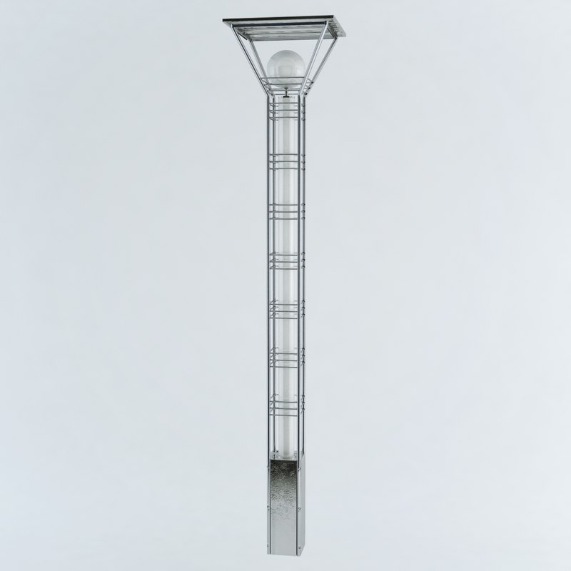 3ds max solar street lamp