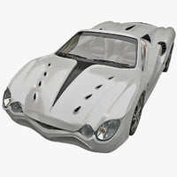 realistic sport car mitsuoka 3d c4d