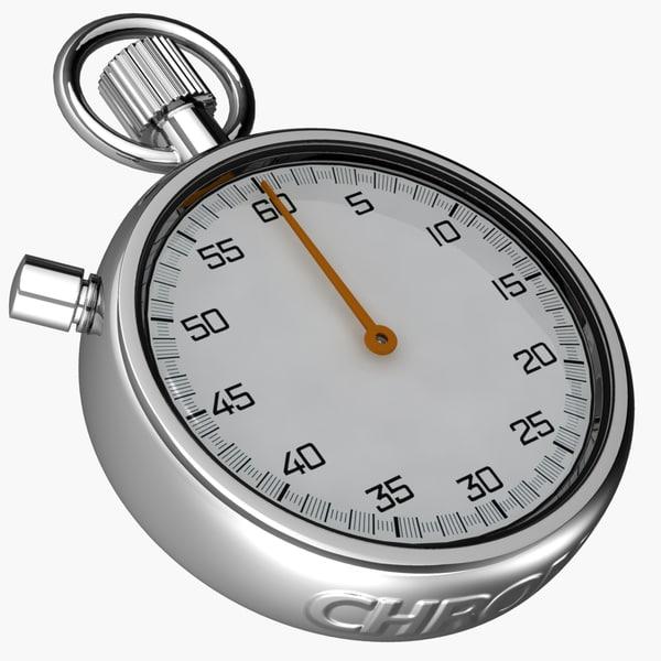 stopwatch watch 3d 3ds