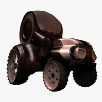 3d tractor modeled
