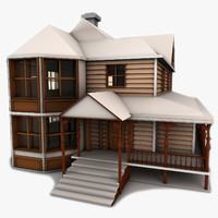 3d model victorian house