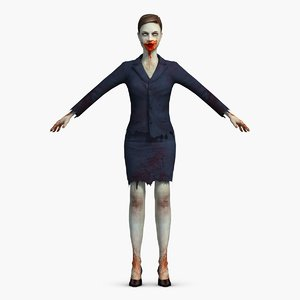 zombie female office 3d max