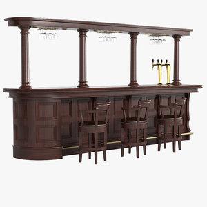 bar equipment 3d obj