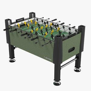 3d model carrom football table