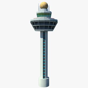 singapore changi airport control tower 3d 3ds