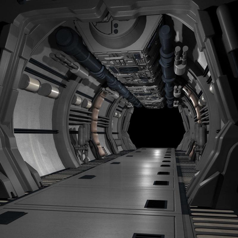 scifi corridor 3ds