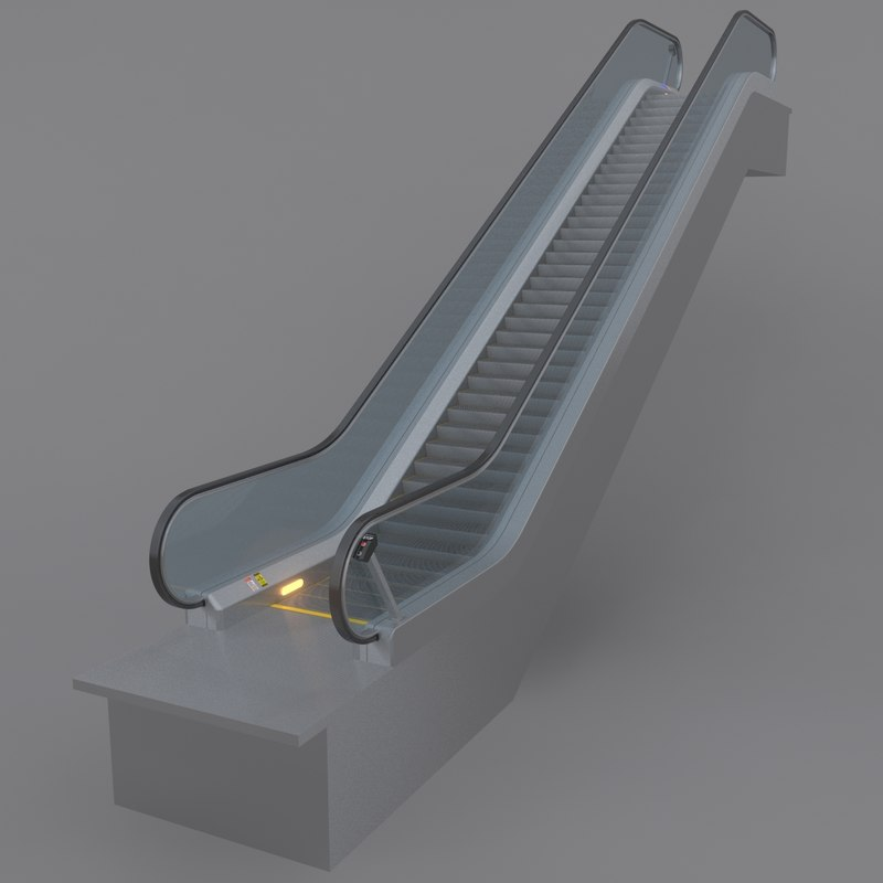3d model escalator animation