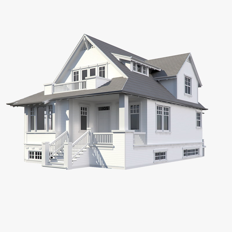 3d family house model for Houses models